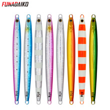 FUNADAIKO 5pcs/lot lead jig artificial baits fishing lure pencil jig metal jig Jigging lure slow metal jig 20g 30g 40g 60g jig funadaiko 5pcs lot lead jig artificial baits fishing lure pencil jig metal jig jigging lure slow metal jig 20g 30g 40g 60g jig