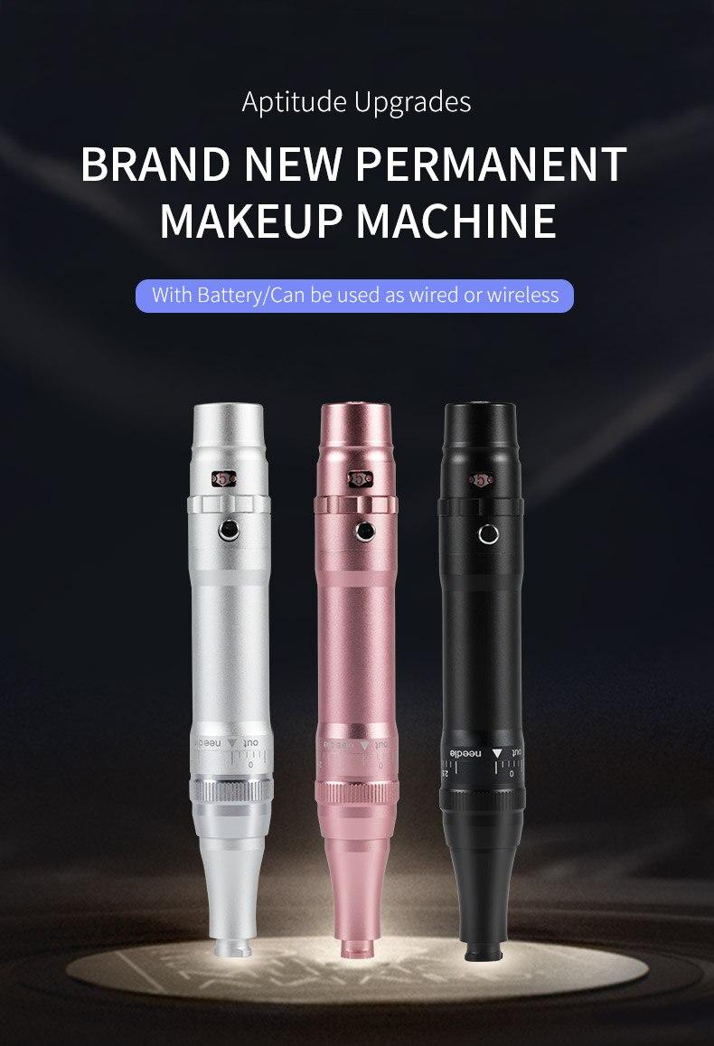 Профессиональный беспроводной карандаш для глаз бровей губ татуировки машина Перманентный макияж ручка с картриджем иглы