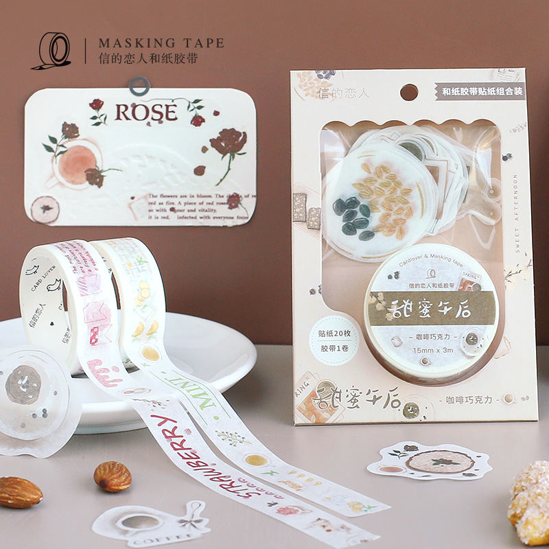 Fresh Lemon Peppermint Kawaii Paper Washi Tape Adhesive Tape Diy Scrapbooking Sticker Label Masking Tape