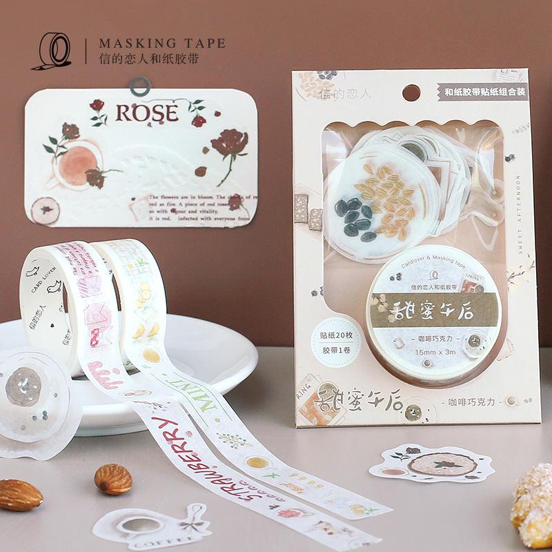 Fresh Lemon Peppermint Kawaii Paper Washi Tape Adhesive Tape Diy Scrapbooking Sticker Label Masking Tape