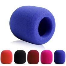 10 pçs colorido sem fio handheld estágio microfone pára brisas espuma mic capa karaoke dj microfone esponja pop filtro protetor do vento