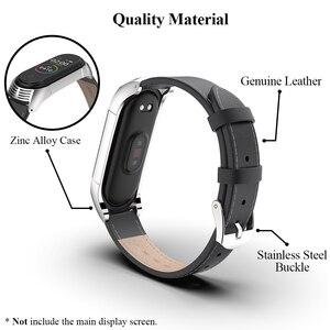 Image 5 - Mi Band 5 браслет из натуральной кожи NFC глобальная версия для Xiaomi Mi Band 4 ремешок Mi Band 3 ремешок TF умные аксессуары ремешок для часов