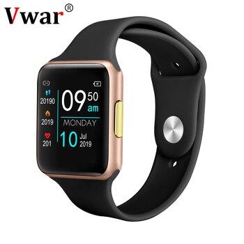 Vwar VE06 ECG PPG Smart Watch IP68 Waterproof Women Watches Heart Rate Monitor Men Smartwatch 38mm for Apple IOS Android Phone