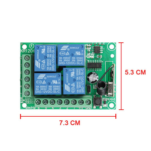 Image 2 - QIACHIP تيار مستمر 12 فولت 10A 4 بوتون جهاز ريموت كنترول لا سلكي يعمل بالتردد الراديوي التبديل 433.92 ميجا هرتز 4CH التتابع وحدة التبديل العالمي للتحكم عن بعد 433 ميجا هرتز