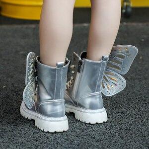 Image 5 - Cctwins Kids Schoenen 2019 Herfst Mode Meisjes Zwarte Spiegel Martin Laarzen Jongens Wing Casual Schoenen Voor Kinderen Hoge Top Schoenen MB007