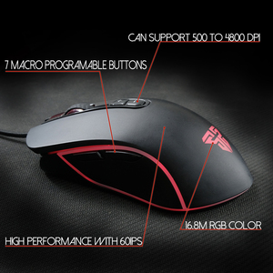 Image 2 - FANTECH X9 Professional Wired Gaming Mouse Adjustable 4800 DPI Optical Cable Mouse For FPS LOL Mouse Gamer USB Mouse Mice