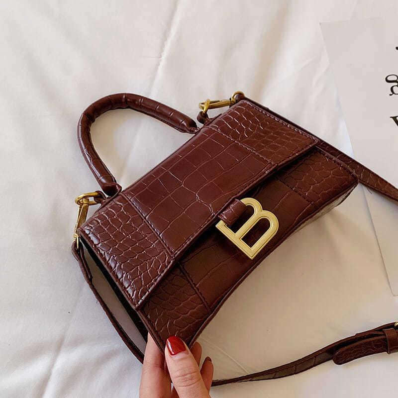 Дизайнерская Роскошная мягкая сумка-тоут с ручкой сверху, женская кожаная сумка-песочные часы из кожи аллигатора, Брендовая женская сумка-м...