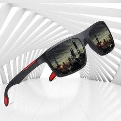 AOFLY BRAND DESIGN Polarized Sunglasses Men Ultralight TR90 Frame Driver Fashion Mirror Sun Glasses Women Square Goggle UV400