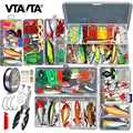 Multi Fishing Lures Set Wobblers Mixed Colors Soft Lure Kit Artificial Hard Bait Minnow Metal Jig Spoon Crankbait Fishing Tackle