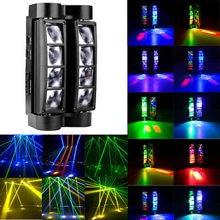 Cabeça movente portátil aranha luz mini aranha led 8x10 w rgbw feixe de luz grandes efeitos dj discoteca festa iluminação palco