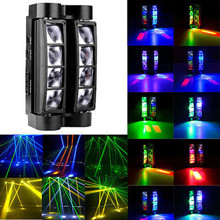 Portable Moving Head Spider Light Mini LED Spider RGBW Beam Light Great  DJ Disco Nightclub Party Stage Effect Lighting