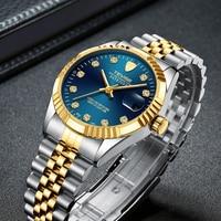 Men Watch Sport Mens Watches Top Brand Luxury Automatic Mechanical Waterproof Full Steel Quartz Gold Clock Men Relogio Masculino
