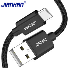 JianHan USB C Cable for Samsung S20 S10 S9 S8 Plus 3A Fast Charging USB Type C Charger Cable for Xiaomi Galaxy Note 10 9 8