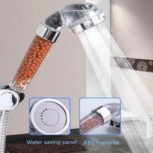Chuveiro de banho ajustável jetting cabeça de chuveiro alta pressão poupança água do banheiro filtro anion chuveiro spa bico