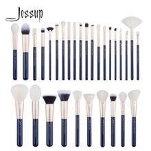 Jessup brush 30 sztuk pruski niebieski/złoty zestaw pędzli do makijażu przybory kosmetyczne zestaw pędzli do nakładania podkładu Powder Eyeshadow Concealer