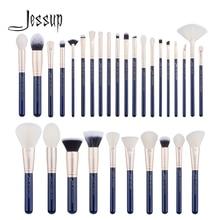 Jessup fırça 30 adet prusya mavisi/altın makyaj fırça seti güzellik araçları fondöten fırça seti pudra göz farı kapatıcı