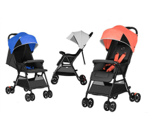 Youpin Lightweight Folding Stroller Adjustable Angle Quick Wash 3 Stage Waterproof Canopy Universal Season Baby Stroller