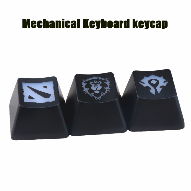 1PCS Cool DIY Keyboard Game Keycaps Hot Gaming World Of Warcraft / DOTA ABS Keycap For Mechanical Keyboard R4 Height