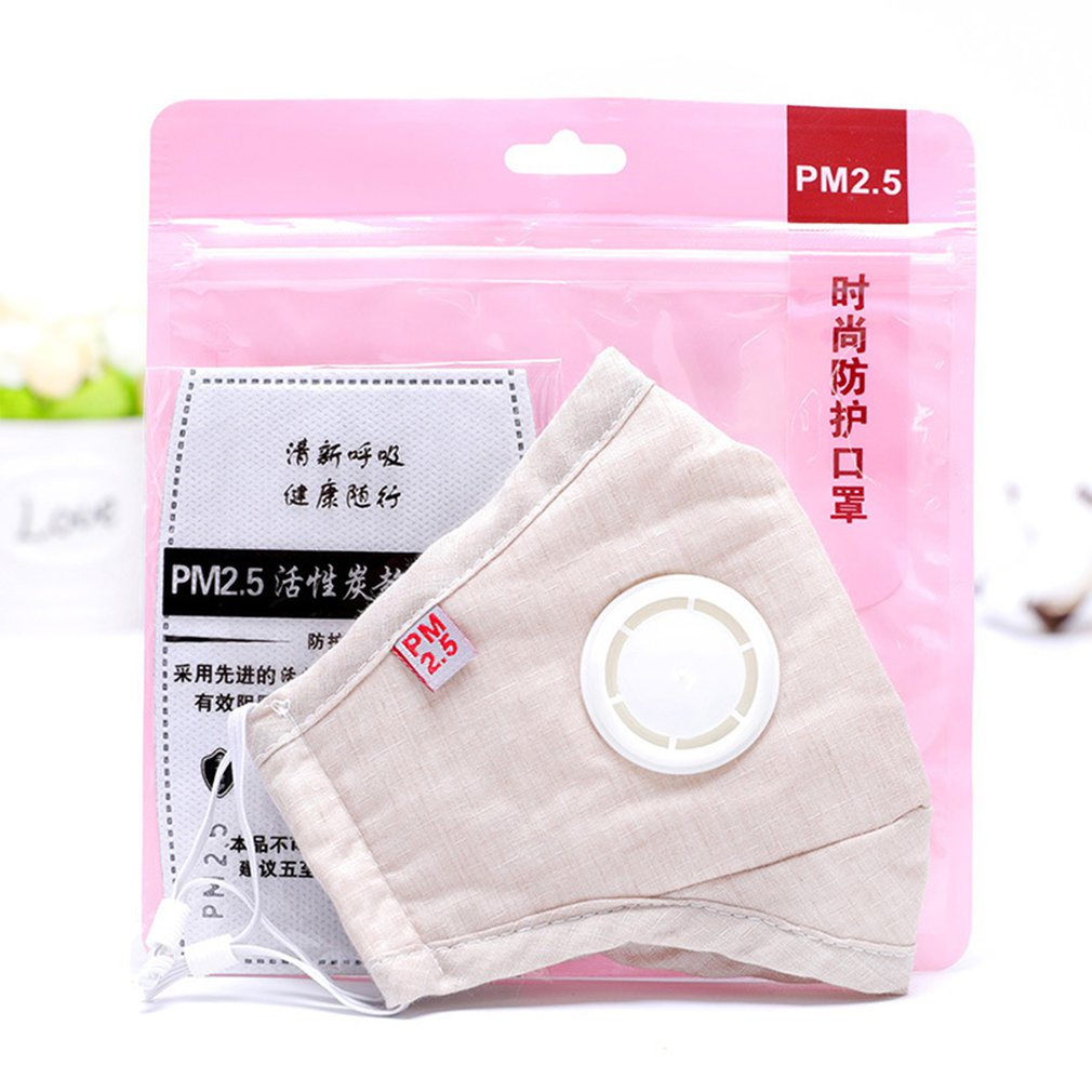 Women Men Anti Flu Masks Reusable Cotton Breathable PM2.5 Air Fog Respirator For Outdoor Half Face Masks