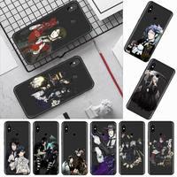 Custodia per cellulare Black Butler anime cartoon rose per Xiaomi Redmi mi note max 3 5 6 8 9 10 t S SE lite pro borse per cellulare in Silicone morbido