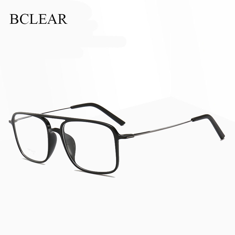 BCLEAR Vintage Glasses Woman Man Double Bridge Retro Eyeglasses Lightweight Optical Glasses Frame Unisex Fashion Eyewear Quality