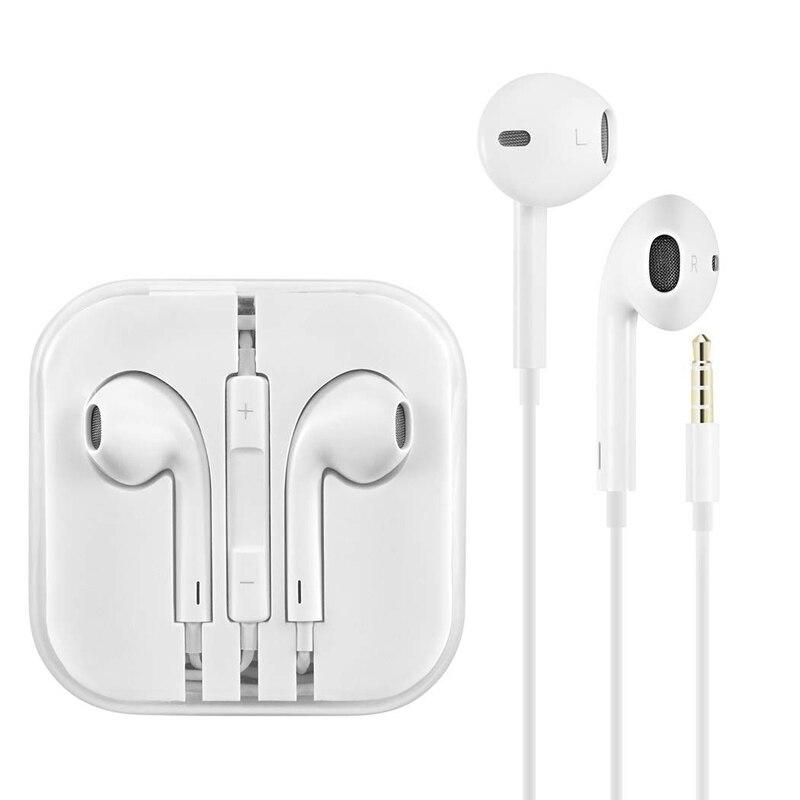 Провод In-Ear 3,5 мм наушники с микрофоном на проводе Звуковое управление Bluetooth стерео наушники для IPhone 6 6S плюс 5S SE MP3 IPad номер телефона Bluetooth