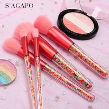 Makeup-Brushes-Set Foundation-Blush Highlighter Eyeshadow Professional Beauty Loose-Powder