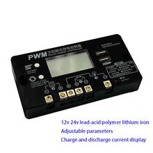 Solarny regulator MPPT 12 24V 10-60A domowy kwasowo-ołowiowy moduł ładowania baterii litowej tanie tanio custom-souring CN (pochodzenie) Nowy Regulator napięcia