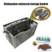 Dishwasher Silverware Basket Universal Clean Dirty Magnets Sign Utensil Cutlery Holder can CSV Racks & Holders     -