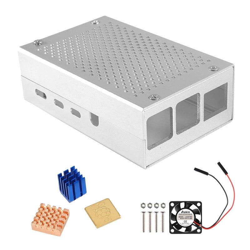 Raspberry Pi 4 B Case Aluminum Case Box Metal Enclosure For Raspberry PI 4 Model B