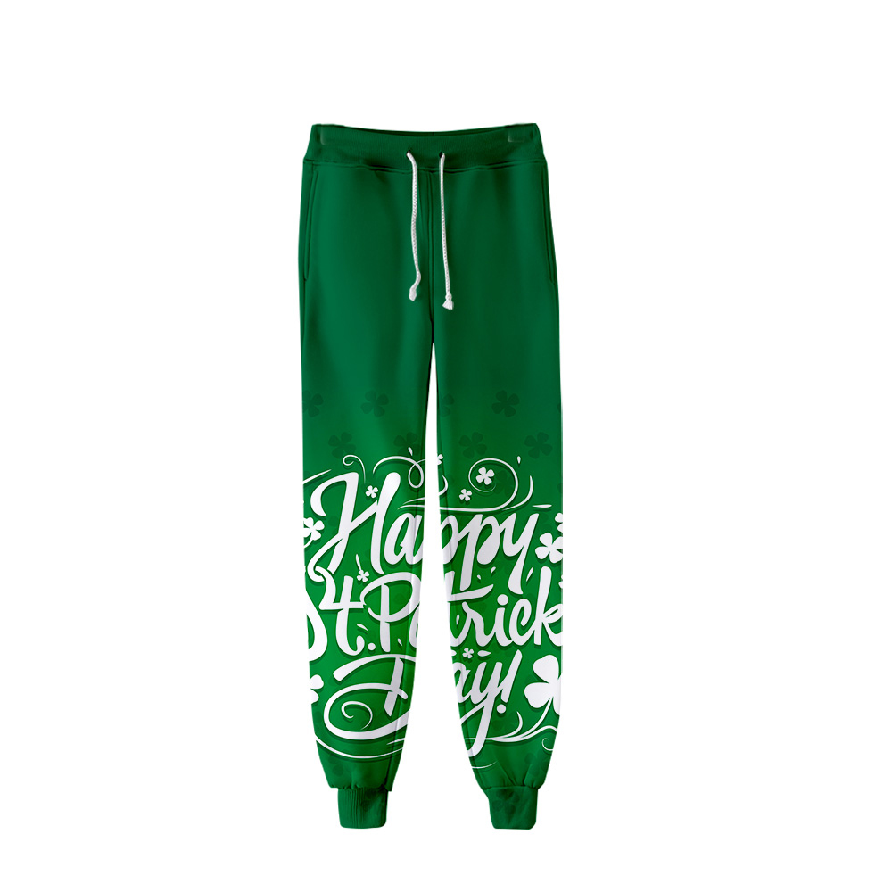 2019 St. Patrick's Day Pants Men Hip Hop Pants Trousers Kpop Fashion Casual High Quality Casual Warm St. Patrick's Day Pants
