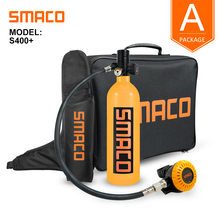 SMACO S400Plus Mini Scuba Diving Tank Equipment, Cylinder with 16 Minutes Capability, 1 Litre Capacity with Refillable Design