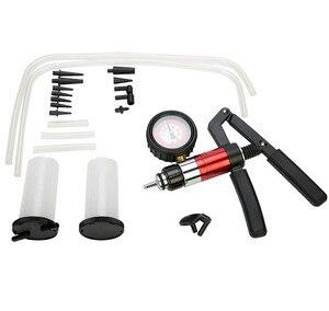 Image 3 - Auto narzędzie diagnostyczne samochód Auto ręczny pistolet próżniowy pompa hamulca odpowietrznik adapter zbiornik płynu Tester oleju zestaw narzędzi