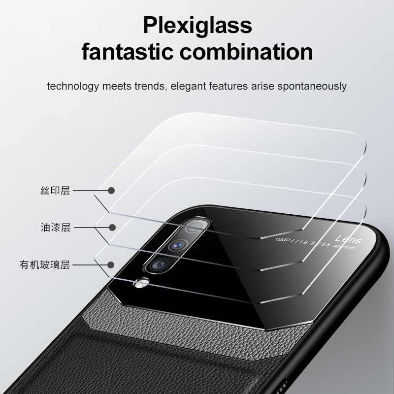 Telefon samsung kılıfı A70 A7 2018 kılıf tampon lüks PU deri kılıf geri samsung kılıfı Galaxy A7 2018 A750 A70 70 kılıfı