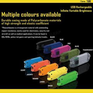 Image 4 - NITECORE 튜브 휴대용 빛 마이크로 USB 충전식 EDC 포켓 손전등 방수 미니 크기 경량 10 다채로운 키 램프