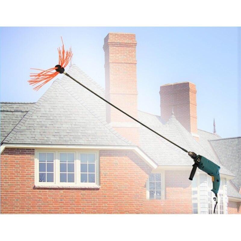 Chimney Brush Set Flexible Hand Cleaner Equipment Power Rotary Sweeping Tools