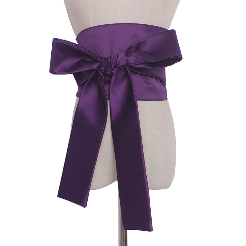Vintage Front Tie Cummerbund Women Bandage Bow Tie Wide Belts For Women Dress Self Tie Corset Bow Strap Ladies Japanese Belt
