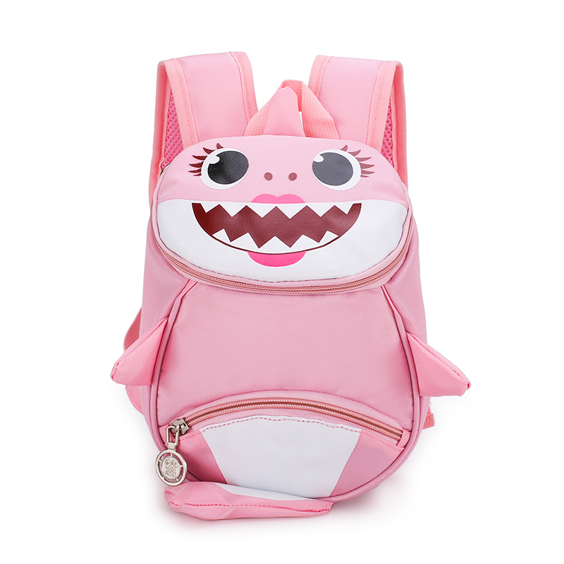 2019 Backpack New Cartoon Shark Baby Anti-lost Children Bag  Cute Nylon Shoulder Bag Primary School Kindergarten Bag Bookbag