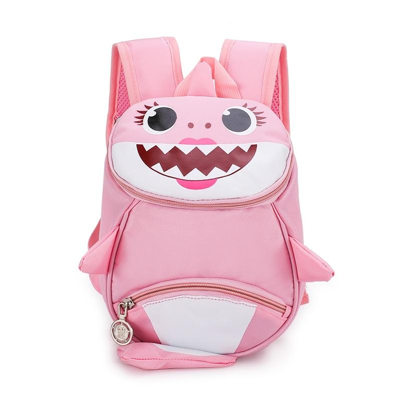 2019 Backpack New Cartoon Shark Baby Anti-lost Children Bag  Cute Nylon Shoulder Bag Primary School Kindergarten Bag Bookbag