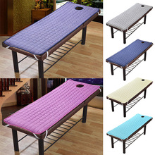 Bed-Sheet Mattress with Holes Body-Care Non-Slip Spa-Treatment Beauty Solid-Color