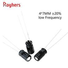 20 шт 4*7 высокая частота низкая ESR Алюминий электролитический конденсатор с алюминиевой крышкой, набор 10V 16V с алюминиевой крышкой, 50В, алюмини...