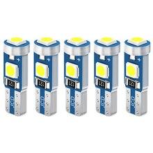 5 uds T5 W3W W1.2W bombilla LED luces para el cuadro de instrumentos del coche bombillas para mercedes benz w124 w204 w210 w140 w203 W211 W221 W220 W163 w205