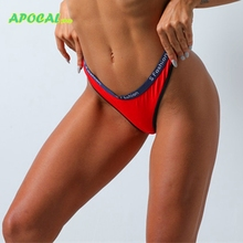 APOCAL Plus Size Sexy Underwear Women Cotton String G-String Thongs Letter Intimates Femme Seamless Low Waist invisible Panties