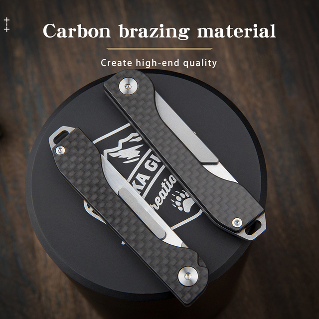 carbon fiber folding tool knife Tactical Knife Sharp blade Carry-on Outdoor Survival camping emergency tools Unpacking paper cut 2