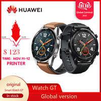 Na całym świecie zegarek huawei GT wodoodporna inteligentny zegarek pomiar tętna w czasie spania wsparcie śledzenia GPS człowiek Sport smartwatch tracker dla android ios