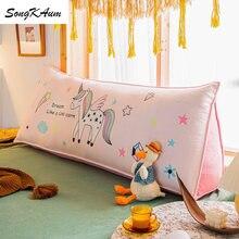 Songkaum lavável bonito dos desenhos animados crianças longo almofada de cabeceira estilo europeu dupla face almofadas casa dupla almofadas tatami
