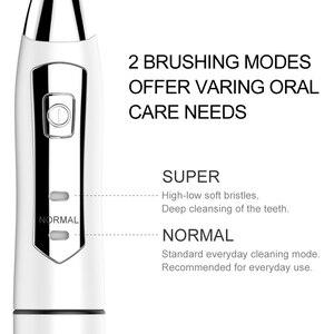 Image 3 - Szczoteczka elektryczna SEAGO Sonic szczoteczka do zębów dla dorosłych z 3 wymienne główki do szczoteczki wodoodporny Smart time SG910 prezent