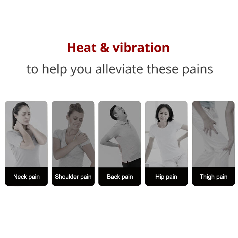 KLASVSA Chair Vibrating Back-Massager Lumbar Electric Portable Home Office Cussion Car