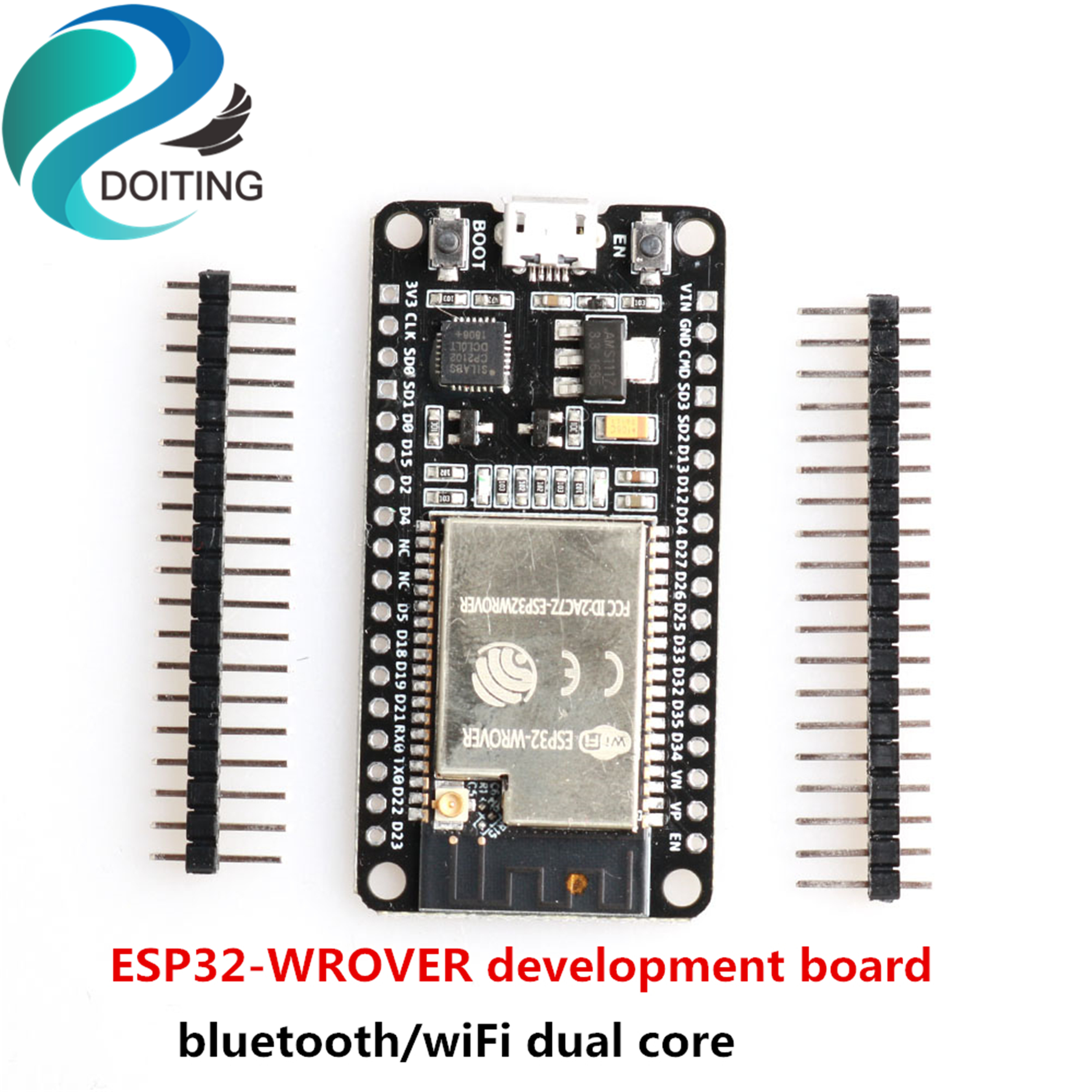 DOITING ESP32-WROVER Development Board Expanding Board Bluetooth WiFi Dual Core IPEX Version ESP32 Original Chip ESP-32s/ESP32