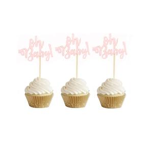 Image 5 - 10 Chiếc Mạ Vàng Long Lanh Oh Bé Cupcake Trang Trí Đồ Oh Boy Cô Gái Cho Bé Ballon 1st Chúc Mừng Sinh Nhật Bánh Trang Trí Trẻ Em dự Tiệc Cung Cấp